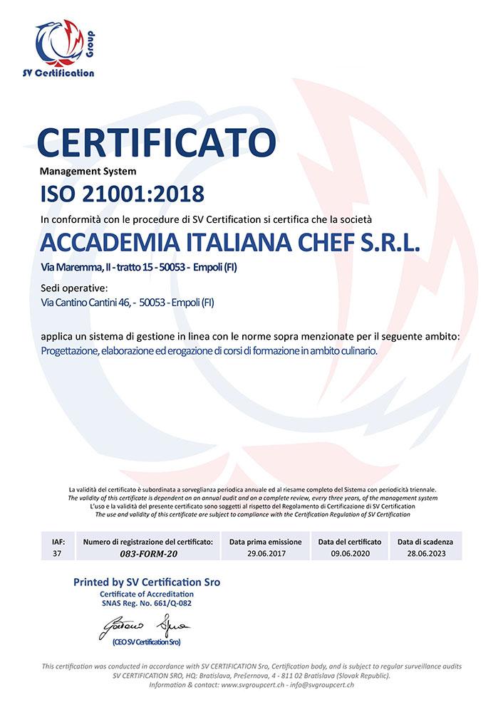 certificato-ISO21001